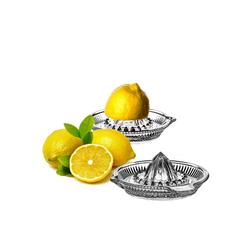 Pasabahce Zitruspresse Zitronenpresse aus Glas mit Ausgießer (2 Stück), Glas