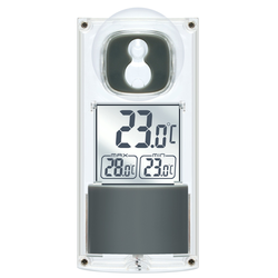 Solar Fenster Thermometer - mit Saugnapf