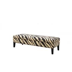 Casa Padrino Luxus Sitzbank Zebra 142 x 51 x H. 40 cm - Luxus Sitzbank