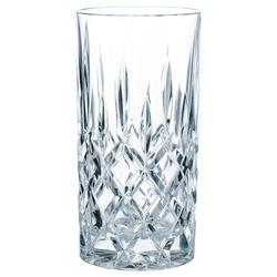 Nachtmann Longdrinkglas Noblesse (4-tlg), Kristallglas mit edlem Schliff