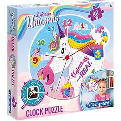 Clock Puzzle 96 Teile - Einhorn