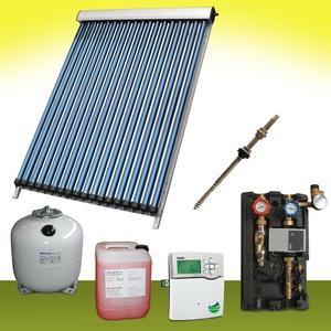 Komplettpaket 13,14 m2 Solaranlage Vakuumröhrenkollektor Basis