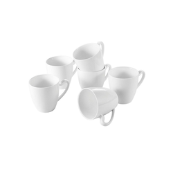 MALACASA Becher ELVIRA (6-tlg), Kaffeebecher Set aus Porzellan