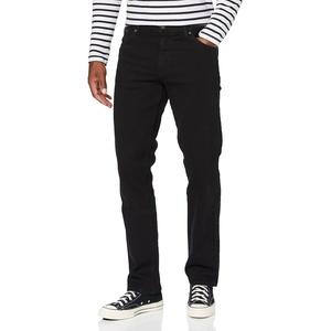 Wrangler Herren Texas Tonal Straight Jeans, Schwarz (Black Overdye), 35W / 32L