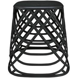 Kleine Wolke Hocker Scandic Chair (1 St), moderner Hocker mit 2in1 Funktion schwarz