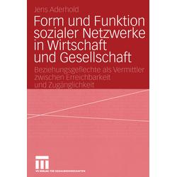Form und Funktion sozialer Netzwerke in Wirtschaft und Gesellschaft als Buch von Jens Aderhold