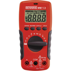 Benning, Multimeter, Hand-Multimeter digital MM 1-3 (CAT II 1000V, CAT III 600V)