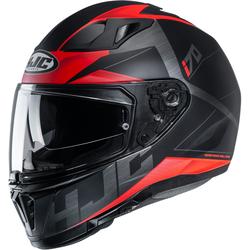 HJC i70 Eluma Helm, schwarz-rot, Größe S