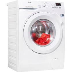 AEG Waschmaschine L6FBA484, 8 kg, 1400 U/min, ProSense - Intelligente Beladungserkennung