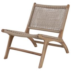 Fotel ogrodowy Kakkab z drewna tekowego