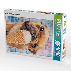 Franz. Bulldogge Lieselotte Lege-Größe 48 x 64 cm Foto-Puzzle Bild von Sonja Teßen Puzzle