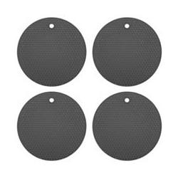 KOCHBLUME® Silikon- Untersetzer rund Wabenstruktur 4 Stück