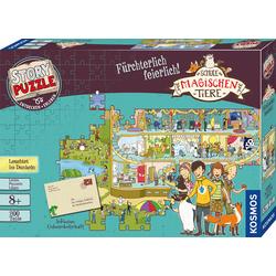 Kosmos Puzzle Story Puzzle: Die Schule der magischen Tiere, Fürchterlich Feierlich bunt Kinder Gesellschaftsspiele Puzzles