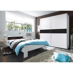 Schlafzimmer-Set, Schlafwelt, Schrankbreite 170 cm, weiß, Set aus Schwebetürenschrank und Bett