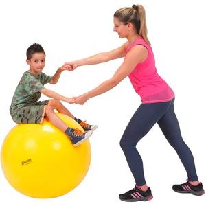 GYMNIC Gymnastikball Sitzball Yogaball Bürostuhl Büroball Fitnessball 75 cm GELB, gelb