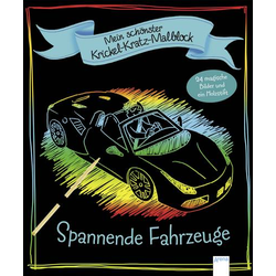 Mein schönster Krickel-Kratz-Malblock – Spannende Fahrzeuge
