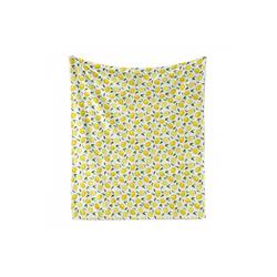 Foulard Gemütlicher Plüsch für den Innen- und Außenbereich, Abakuhaus, Zitrone Frucht-Kunst-Zitronen und Blätter 175 cm x 230 cm