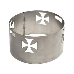 acerto® Feuerstelle acerto® Funkenschutz mit KREUZ-Motiv, für Feuerschalen von 55cm Feuerstelle