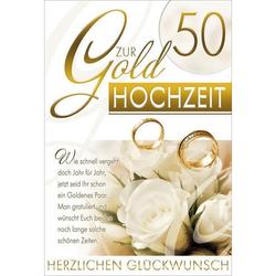 Goldhochzeitskarte   inkl. Umschlag