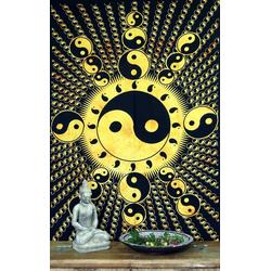 Tagesdecke Indisches Wandtuch, Batik Tagesdecke - Ying.., Guru-Shop