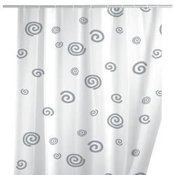 Wenko Duschvorhang (B x H) 180cm x 200cm Polyester Weiß, Grau