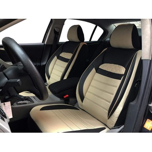 Sitzbezüge K-Maniac für Golf VIII Kombi   Universal schwarz-beige   Autositzbezüge Set Vordersitze   Autozubehör Innenraum   Auto Zubehör   V2511179   Kfz Tuning   Sitzbezug   Sitzschoner