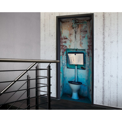 Tür 2.0 XXL Wallpaper für Türen 20024 WC - selbstklebend- Blickfang für Ihr zu Hause - Tür Aufkleber Tapete Fototapete FotoTür 2.0 XXL Vintage Antik Stil Retro Wallpaper Fototapete
