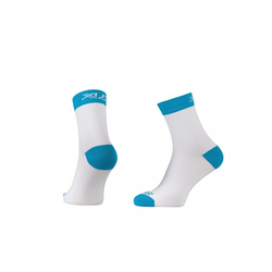 XLC Sportsocken XLC Race Kompressions Socke CS-C03 weiß blau Gr. 4