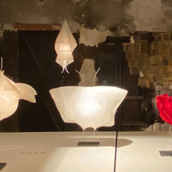Ingo Maurer LED Tischlampe Samurai Papier
