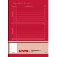 Brunnen Hausaufgabenheft A5 24 Blatt rot