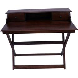 Guru-Shop Schreibtisch Schreibtisch mit klappbarem Ständer & 2..