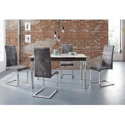 Essgruppe Nelson/Cosy, (Set, 5-tlg), mit 4 Stühlen, Tisch ausziehbar, Breite 140-200 cm schwarz