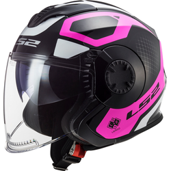 LS2 OF570 Verso Marker Jet helm, zwart-pink, M