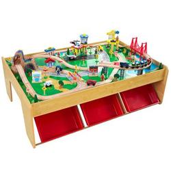 Kidkraft® Wasserfall Eisenbahnset und Spielplatte mit Berg