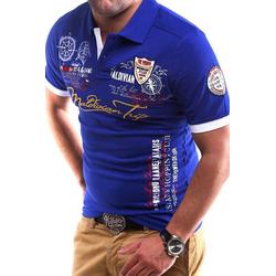 behype Poloshirt TRIP in Piqué-Qualität blau 4XL