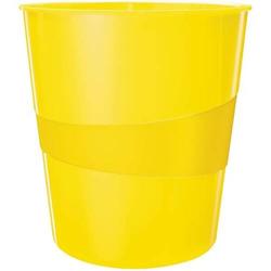 Papierkorb Wow 15l Polystyren gelb