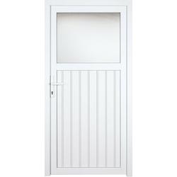 KM Zaun Nebeneingangstür K605P, BxH: 98x198 cm, weiß, links