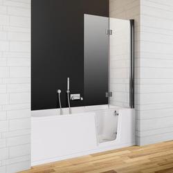 Badfaszination Exclusive Badewanne Thunder Bay mit Tür rechts R3 Weiß 180 x 80 x 48 cm Styrodur zum Verfliesen