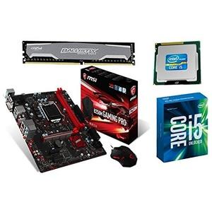 Aufrüstkit MSI B250M Gaming Pro+i5-7600k+16GB PC240 Desktop PC (Intel Core i5, 16GB RAM, Intel HD Grafik 630) grau