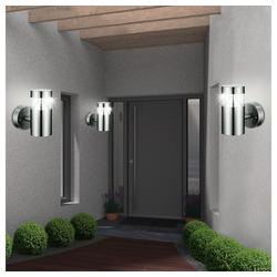 etc-shop LED Aufbaustrahler, Edles 3er Set LED Wand Garten Außen Beleuchtungen Haus Tür Leuchte Weg Strahler