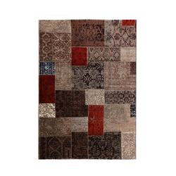 Patchwork Teppich - (Beige; 120 x 170 cm)