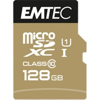 Emtec microSDXC Gold+ 128GB Class 10 + SD-Adapter