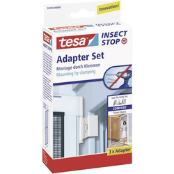 TESA 55193-00 Adapter Alu Comfort Fliegengitter Adapter-Set Passend für Marke Tesa Fliegengitter 3S