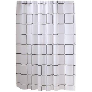 fiejns-zjy Wasserdichter Duschvorhang, PEVA-Stoff, für Badezimmer, Zuhause, Hotel, mit Haken, 80 x 180 cm, PEVA, 80 * 180cm, 80 * 180cm