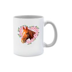 Shirtracer Tasse Pferd mit Herz - Pferde - Tasse zweifarbig - Tassen, tasse pferd