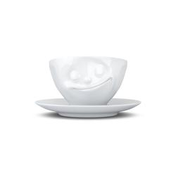 FIFTYEIGHT PRODUCTS Tasse Tasse Glücklich weiß 200 ml