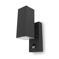 Kiom Außen-Wandleuchte Sensor-Wandleuchte Jarn square UpDown Led d-grau