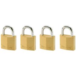 Master Lock Vorhängeschloss, (Set, 4-tlg), Messing, gleichschließend