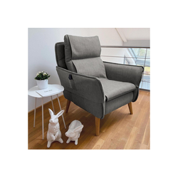 Sesselschoner, PLACE TO BE., Sesselschonbezug für Relaxsessel Insideout grau