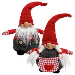 matches21 HOME & HOBBY Dekofigur Weihnachtswichtel Wichtel Deko Figuren 2er Set (2 Stück)